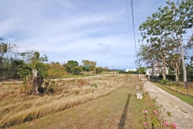 View of lot looking west