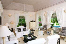 Sitting room leads to pool terrace
