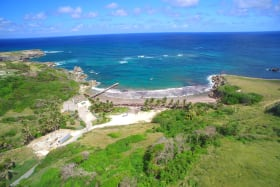 View overlooking the site and Skeetes Bay