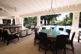 Covered outdoor terrace - wet bar on left