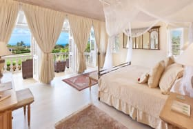 Master bedroom with stunning sea views