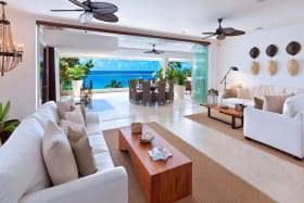 Living room with private terrace