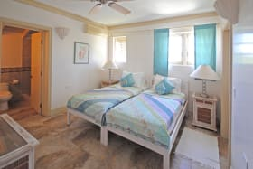 Bedroom two located on first floor has ensuite bathroom