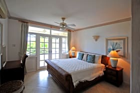 Master bedroom opens to balcony