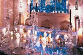 Formal indoor dining room at night