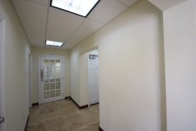 Hallway leading to offices