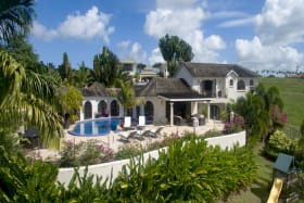 Villa from the Caribbean Sea