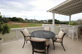 Main level patio with sea views
