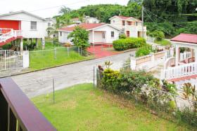View of neighborhood from upper apt terrace