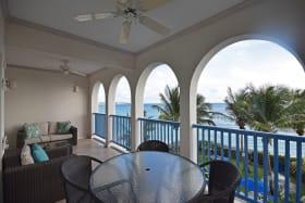 Patio overlooking the caribbean sea