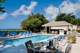 Pool terrace and gazebo