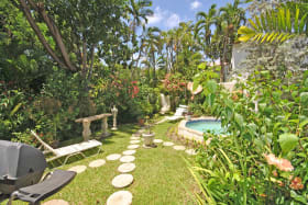 Garden and plunge pool