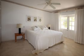 En suite bedroom with private balcony