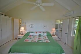 Master bedroom at Westerlee cottage