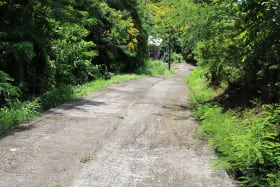 Access road to subject lot