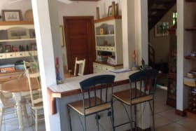 kitchen view of informal dining area