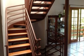 stairwell with sunroof