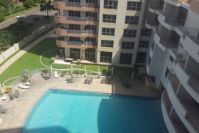 view of the pool from the unit