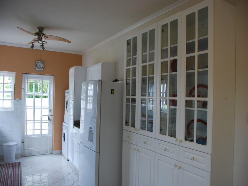 Built in cupboards in kitchen