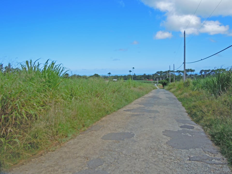 road in front of land