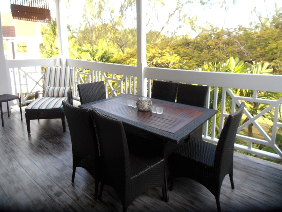 Large patio - Barbados golf course view