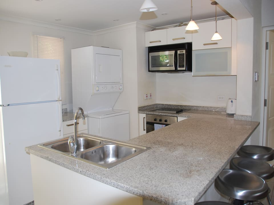 Kitchen with necessary appliances