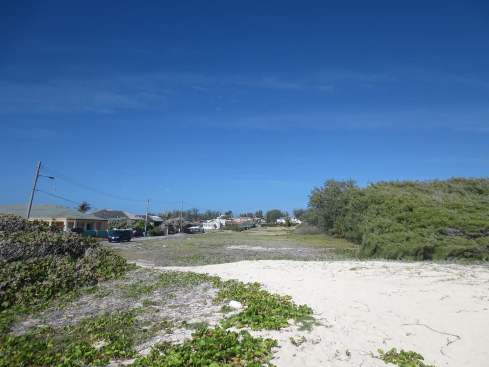 View of plot from the beach
