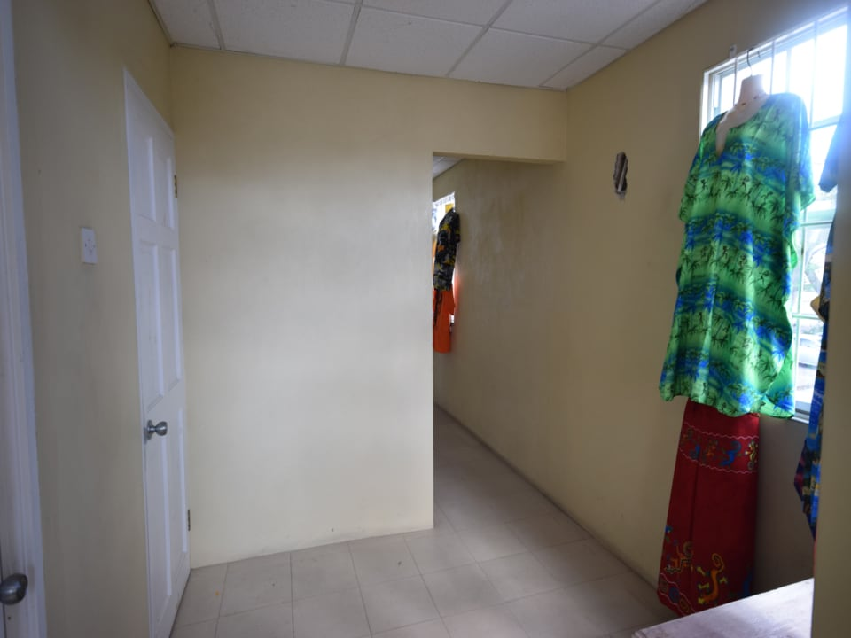 Entrance to Up bathroom to the left