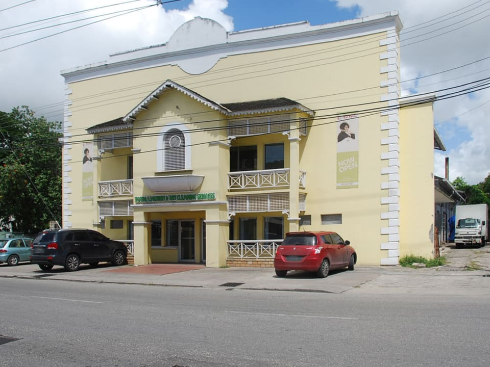 Front of building from main road