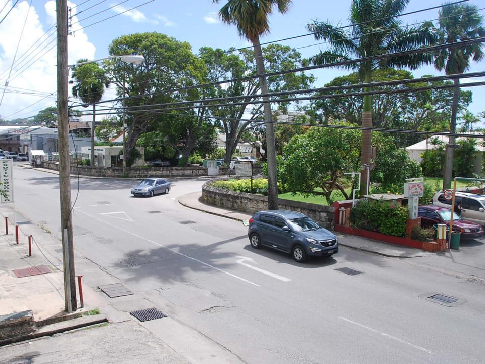 View from roadside balcony