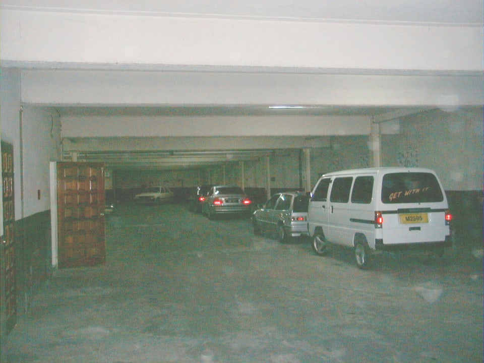 Indoor parking for 27 vehicles, access at north west corner.