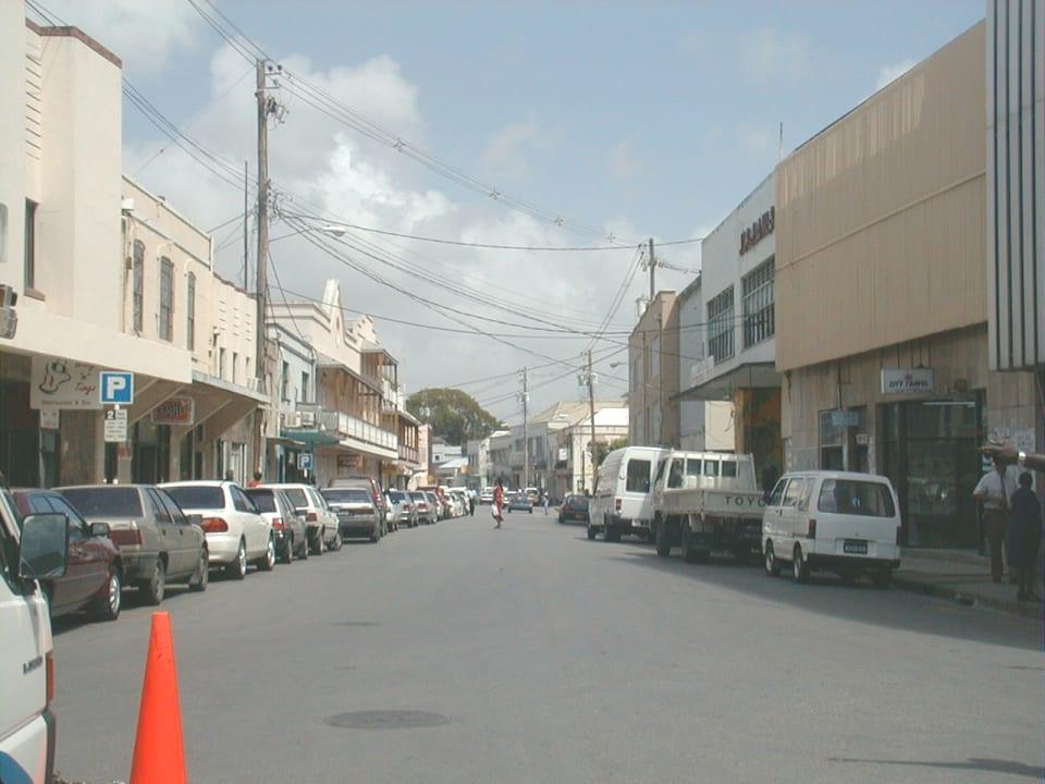 Roebuck Street, looking east, Kay's House at left.
