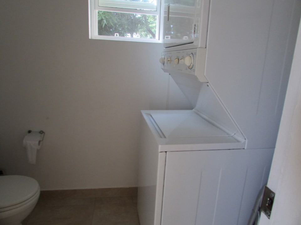 combined powder room and laundry