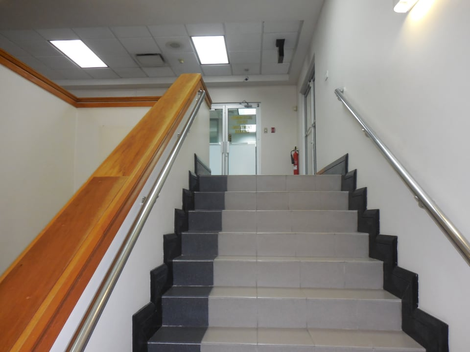 Stairwell leading up to second floor