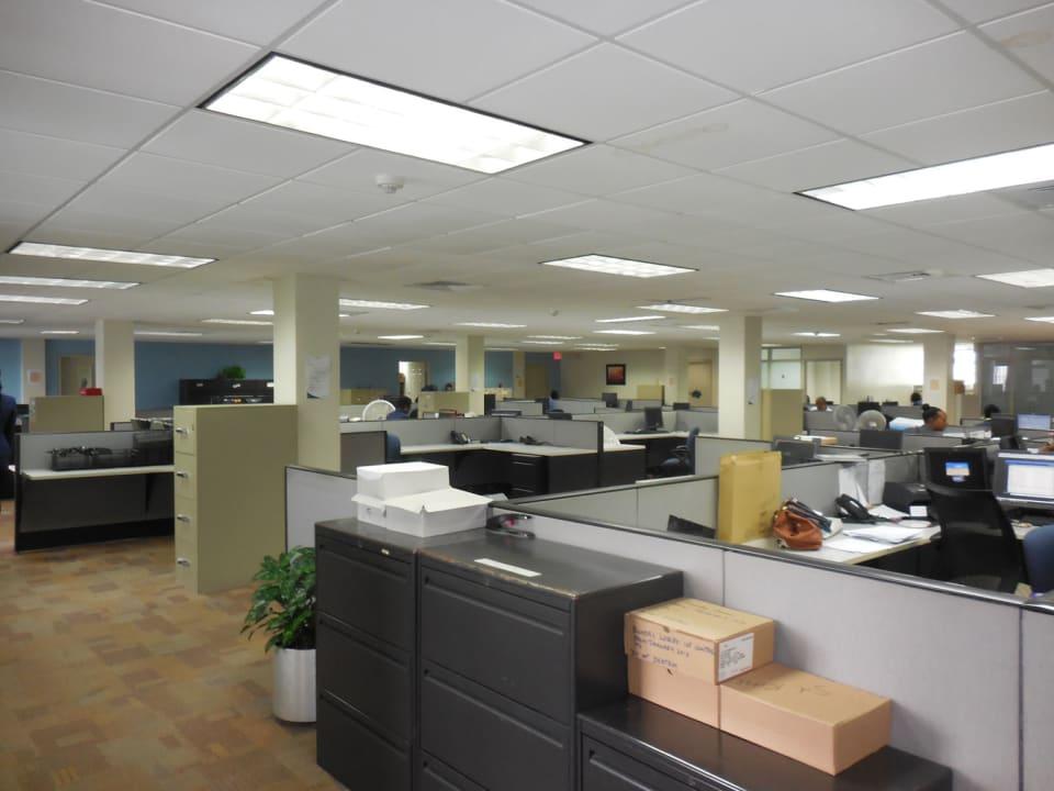 Open plan office on thrid floor