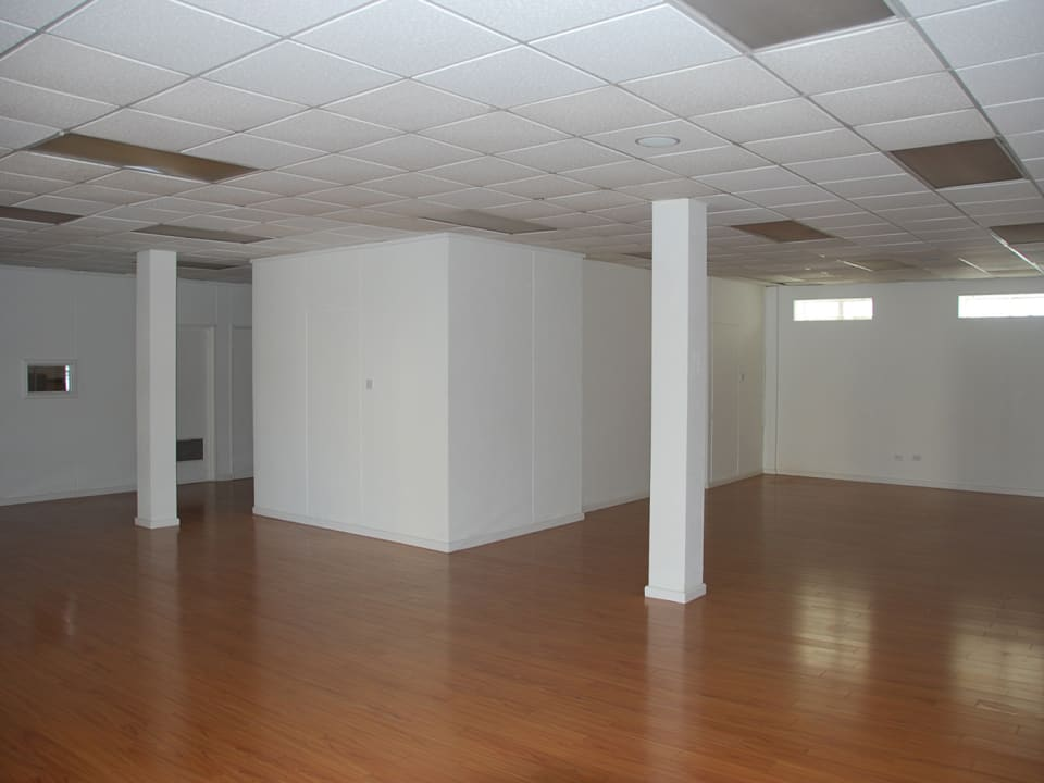 Open plan space with natural light