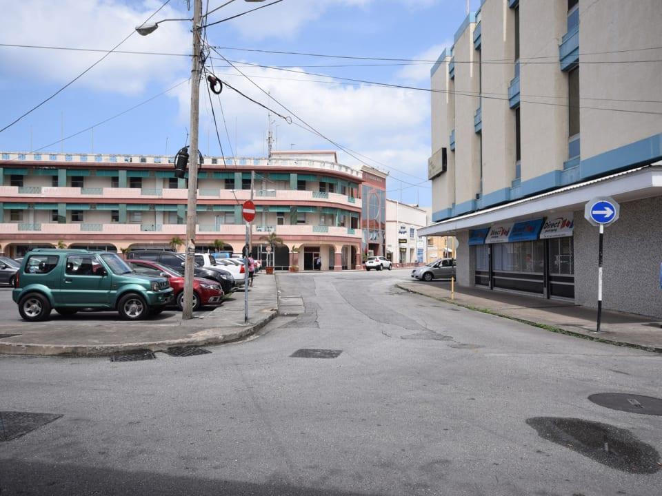 Public parking lot across the street