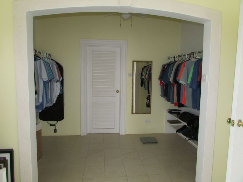 Master suite - walk-in closet