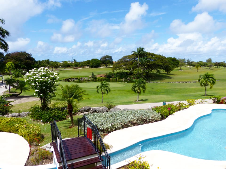 Pool overlooking the Durants Golf Course