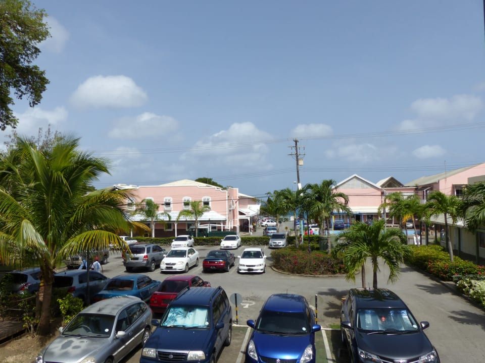 View over the car park