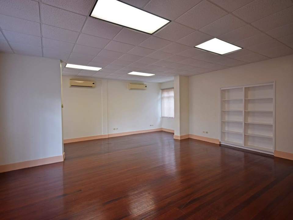 Open-plan Office with Hardwood Floors