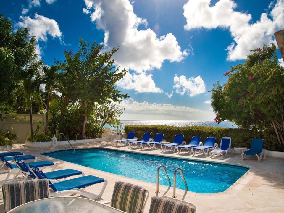 Expansive pool terrace