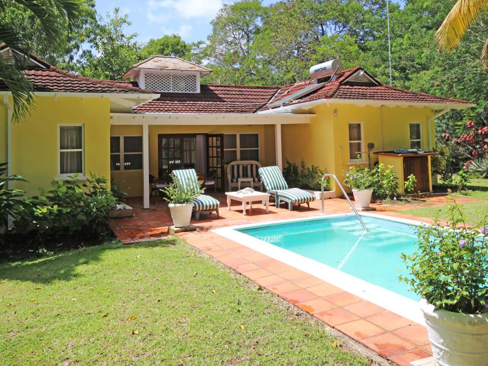 Swimming pool and covered verandah