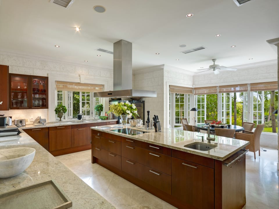 Custom designed kitchen and informal dining