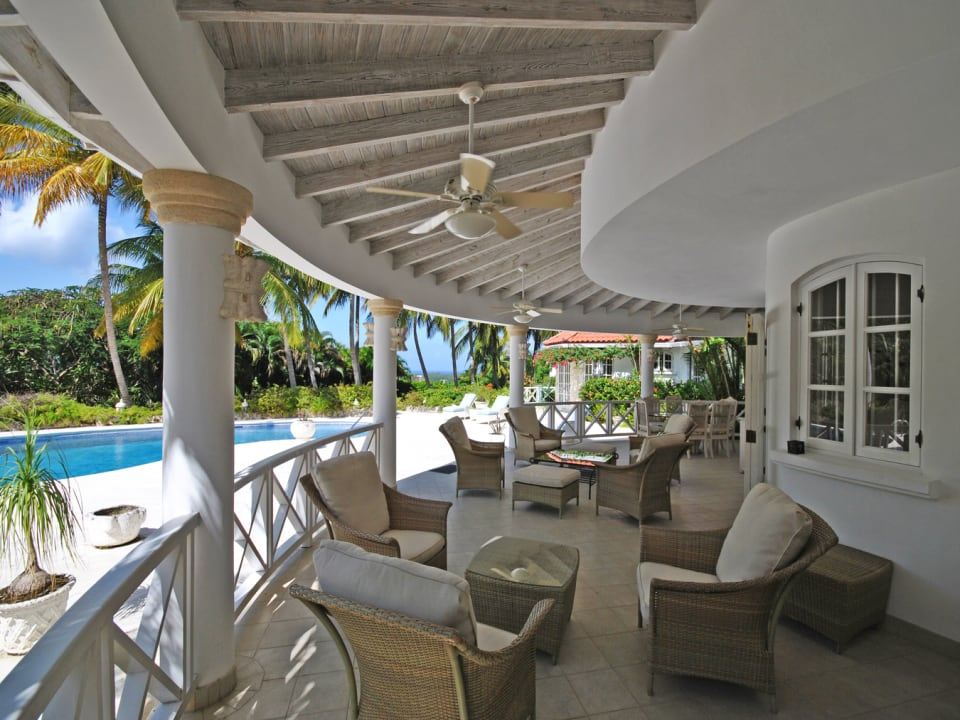 Large Covered Terrace - Enjoy Barbados breezes