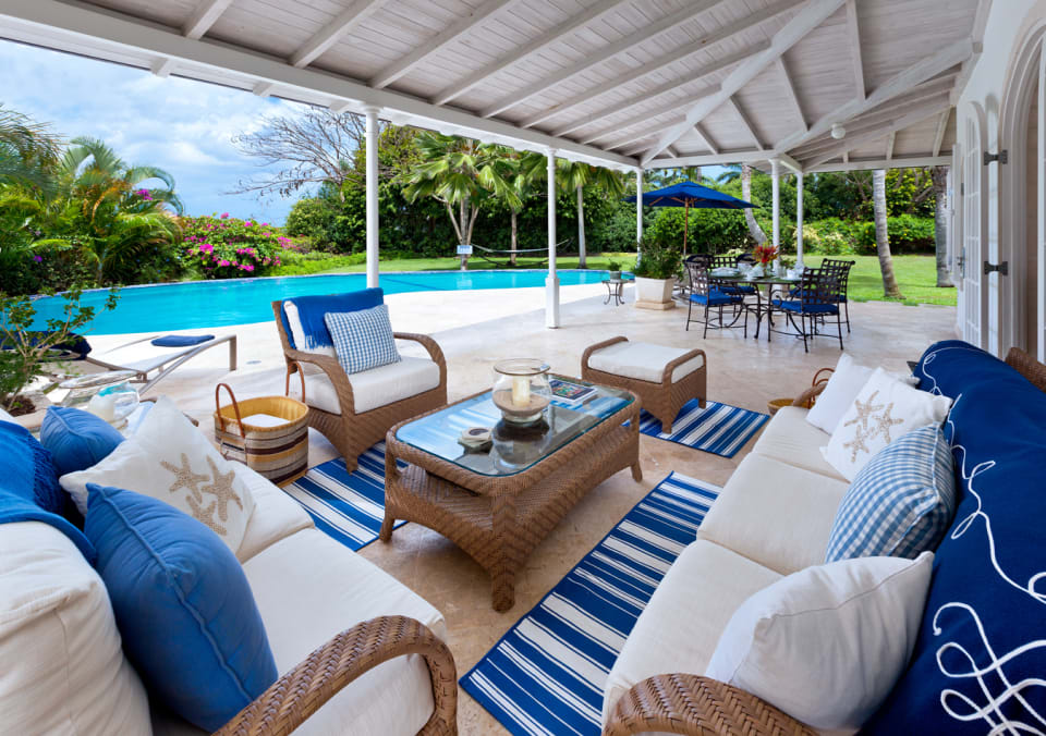 Poolside veranda lounge and dining