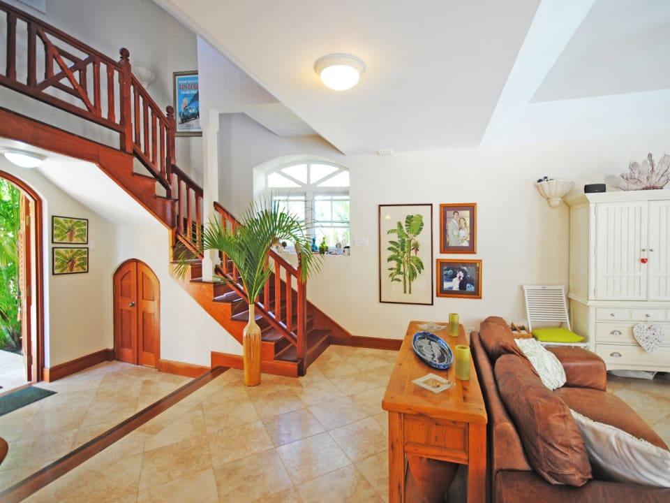 Foyer and stairway to master suite