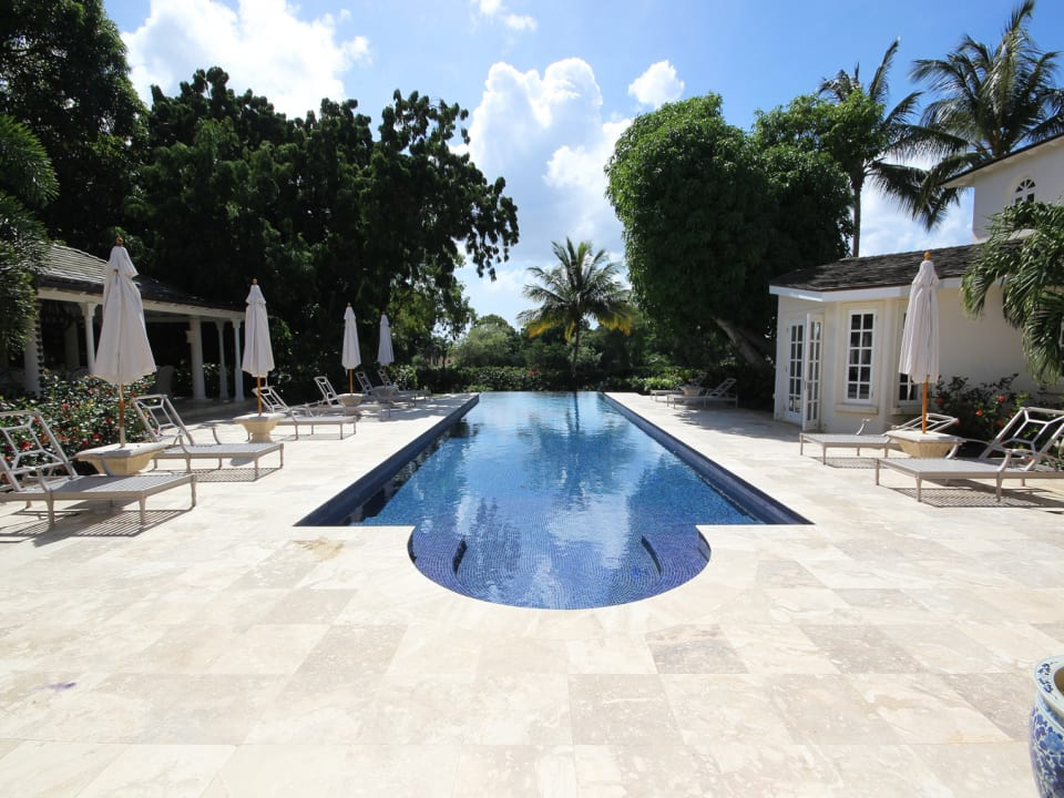 Pool deck from covered terrace