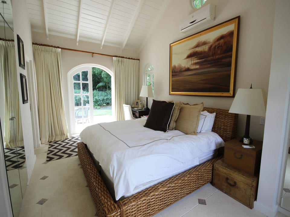Cottage guest suite bedroom with terrace