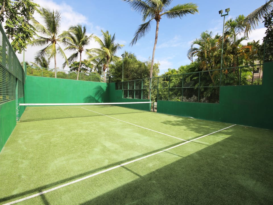 Padel tennis court on property
